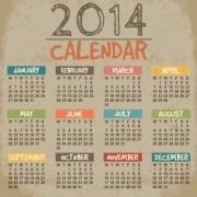 Delicate calendar 2014 year design vector 04