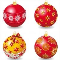 Link toDelicate christmas ball vector