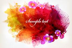 Link toDelicate color ink flower background vector