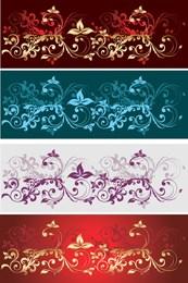 Link toDelicate floral background vector