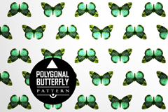 Link toDelicate green butterfly seamless vector background