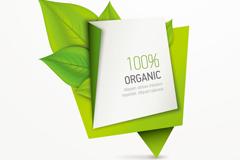 Link toDelicate green leaves origami banner vector