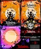 Link toDelicate halloween poster vector