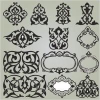 Delicate pattern corner 02 vector