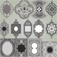 Delicate pattern corner 04 vector