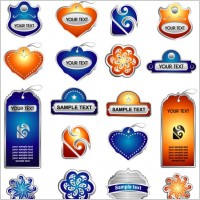 Link toDelicate pattern label stickers vector