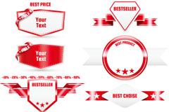 Link toDelicate red sale tag vector