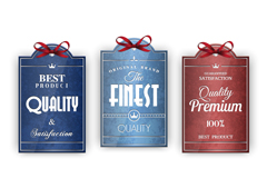Link toDelicate ribbon quality tag vector