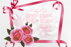Link toDelicate ribbon rose background vector
