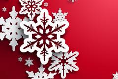 Link toDelicate snowflake clipart vector