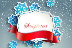 Link toDelicate snowflake ribbon tag vector