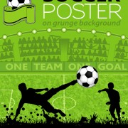 Delicate soccer poster background vector graphics 01 free