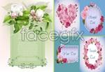 Link toDelicate spring flowers vector