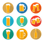 Link toDelicious beer icon vector
