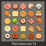 Delicious food icons vector