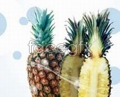 Delicious fruit pineapple psd