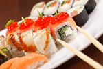 Delicious sushi psd