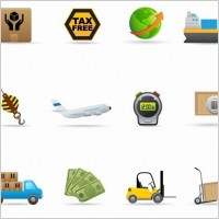 Link toDelivery icon vector set
