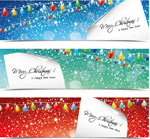 Design christmas banners backgrounds vector
