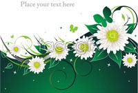 Link toDesign of three flower background vector
