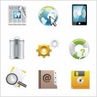 Link toDesktop vector icon set