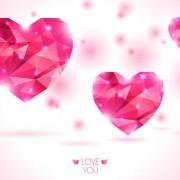 Link toDiamond heart creative vector graphics 01 free
