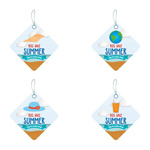 Link toDiamond summer sale tags vector