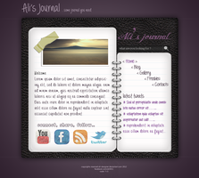 Link toDiary (journal) web layout (free psd)