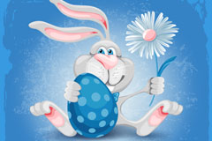 Link toDie for easter bunny cartoon vector