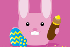 Link toDie for easter bunny vector