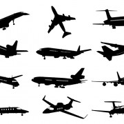 Link toDifferent airplane silhouette vector set free