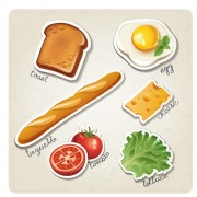 Link toDifferent breakfast food vector icons 02 free