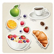 Link toDifferent breakfast food vector icons 03 free
