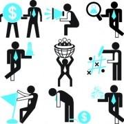 Link toDifferent business people logos design vector set 04