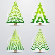 Link toDifferent christmas tree design vector 01