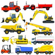 Link toDifferent construction vehicles creative vector free