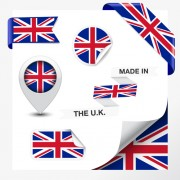 Link toDifferent countries flag sticker with ribbon vector 06 free