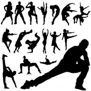 Link toDifferent dance people silhouettes vector free
