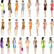 Link toDifferent fashion women icons vector 03 free
