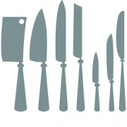 Link toDifferent kitchen cutlery silhouette vector 01 free