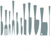 Different kitchen cutlery silhouette vector 02 free