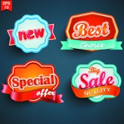 Link toDifferent labels stickers creative vector set 04 free