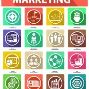 Link toDifferent marketing icons vector