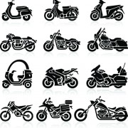 Link toDifferent motorcycle vector silhouettes image free