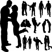 Link toDifferent occupations man and woman silhouettes vector 01 free