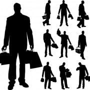 Link toDifferent occupations man and woman silhouettes vector 02 free