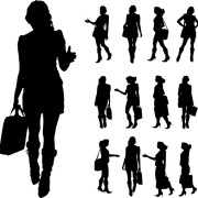 Link toDifferent occupations man and woman silhouettes vector 05 free