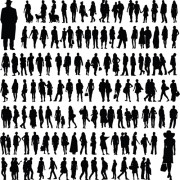 Link toDifferent people silhouettes creative design free