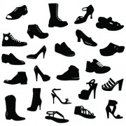 Link toDifferent shoes design vector silhouette 01 free