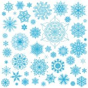 Link toDifferent snowflakes pattern design vector set 04